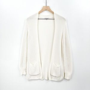 Madewell Open Front Knit Pocket Cardigan Size XS